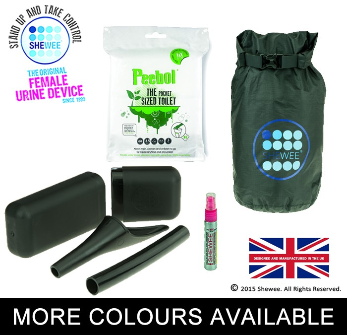 NEW!!! She Can Pee Pack Black – Survival Pack