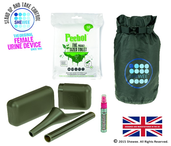 NEW!!! She Can Pee Pack Green – Survival Pack