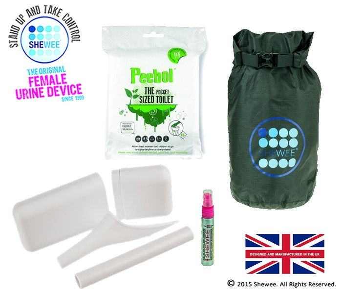 NEW!!! She Can Pee Pack White – Survival Pack
